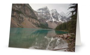Mountain lake photo greeting card